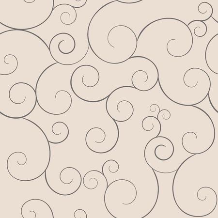 Seamless monochrome swirly patterns, coffee colors