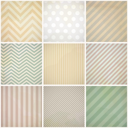 Set of seamless retro patterns with dirt.