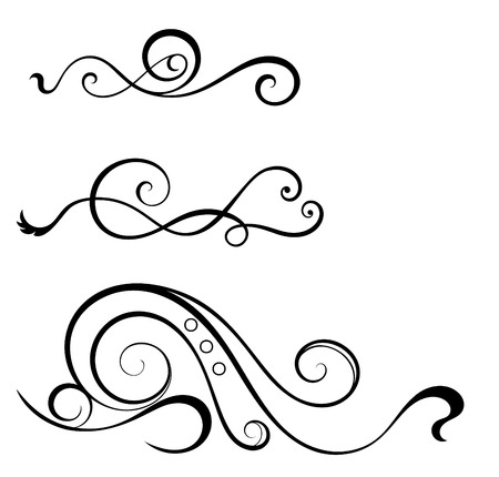 swirl elements for design. Illustration