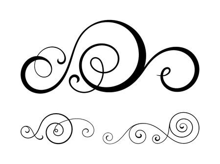 swirl: swirl elements for design. Illustration