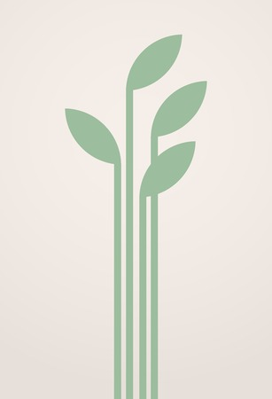 thrive: Simple young green sprout. Illustration