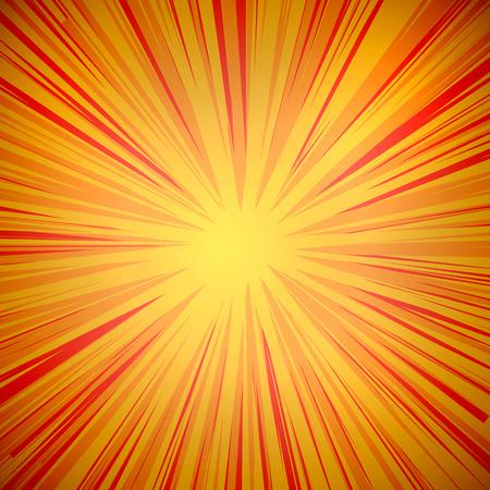 ベクトル漫画の背景、黄色とオレンジ色です。
