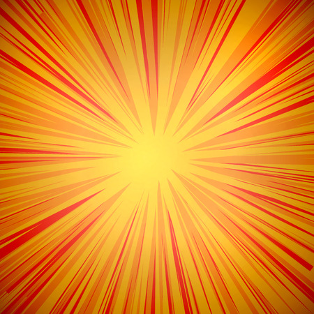 Vector comic background, yellow and orange colors.