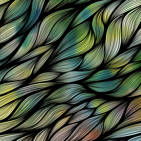 Hand drawn vector doodle pattern with colorful background.