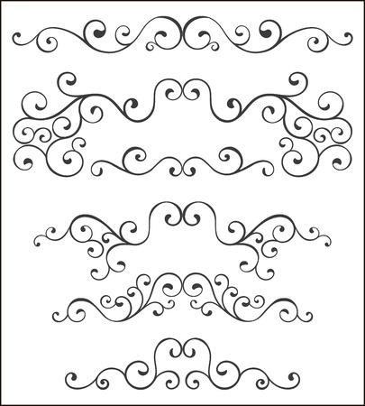 Set of vector decorative elements. Illustration
