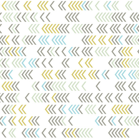 Vector geometric pattern with arrows, autumn colors. Illustration