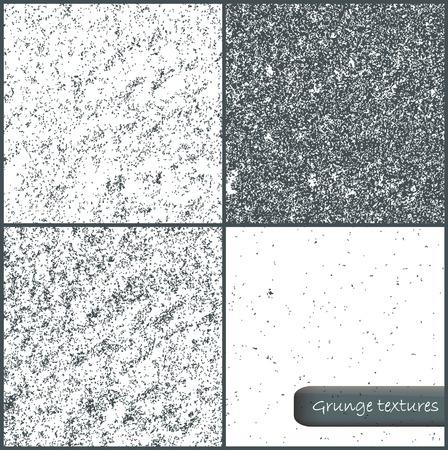 mur grunge: Set of grunge wall backgrounds. Vector illustration. Illustration