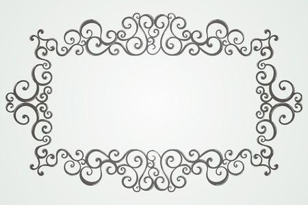 swirl: Vintage monochrome swirl frame.