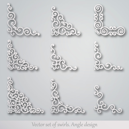 Set of decorative elements. Corner design