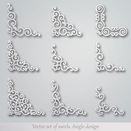 corner ornament: Set of decorative elements. Corner design