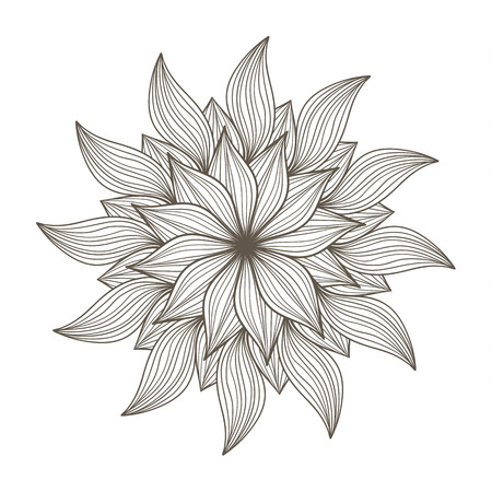 adults: Coloring book page for adults. Illustration