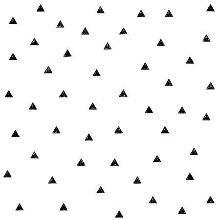 Vector pattern with scribble triangles.