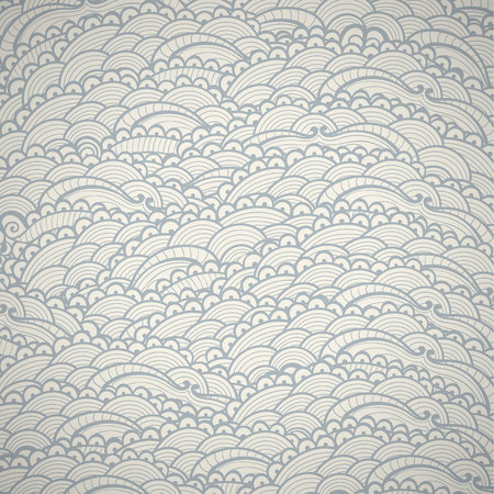 Abstract hand drawn seamless vector doodle pattern.