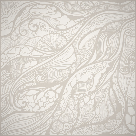 Hand drawn vector doodle pattern. Light colors.