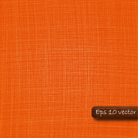 sew tags: Vector realistic fabric background. Bright orange color.