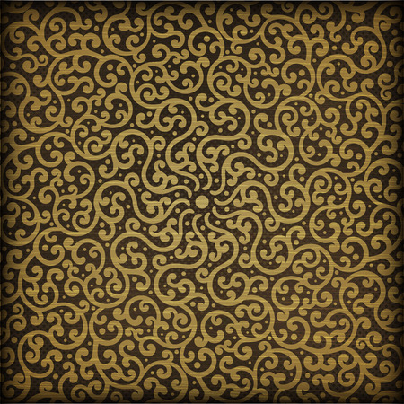 darck: Swirl curled vector pattern on a darck background.
