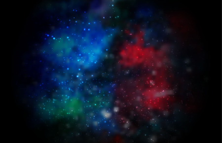 Abstract vector cosmic galaxy background with nebula, stardust and bright shining stars. Vector illustration for your design. Illustration