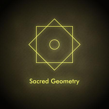 shree: Sacred geometry. Vector balance symbol. Illustration