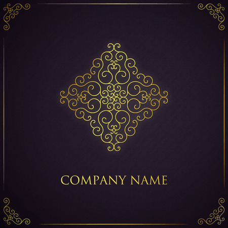 royal background: Vector golden logo template. Illustration