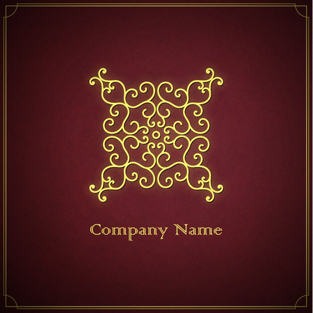 Vector golden logo template. Illustration