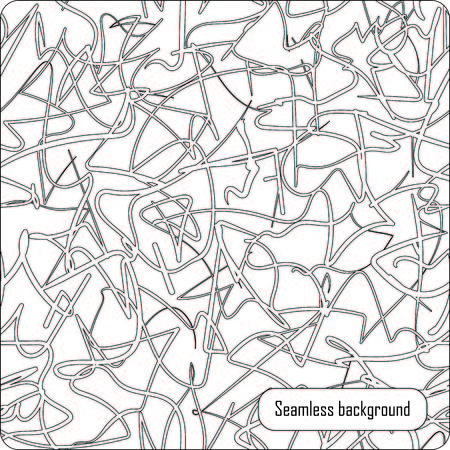 Seamless vector scribble pattern. Black and white colors. Illustration
