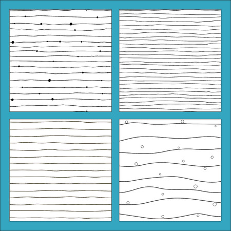 Vector seamless pattern with hand drawn lines. Black and white colors. Illustration