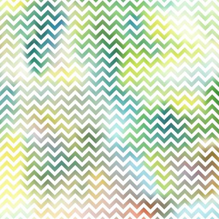 Vector geometric chevron pattern, white stripe on colorful background. Illustration