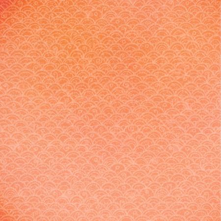Hand drawn vector orange doodle pattern. Illustration