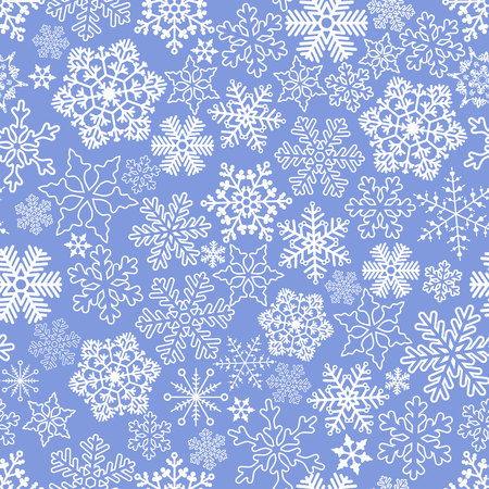 Vector seamless pattern with snowflakes. Illustration