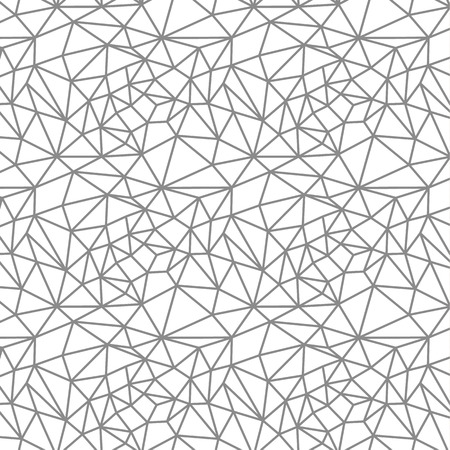 Vector seamless pattern. Irregular abstract linear grid. Graphical monochrome texture. Illustration