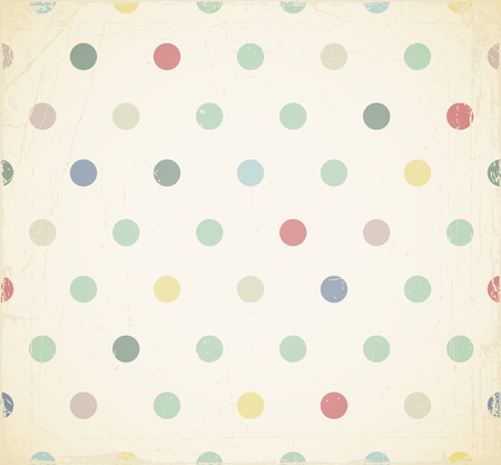 Summer background with circles. Vector colorful pattern with old effects. Stock Photo