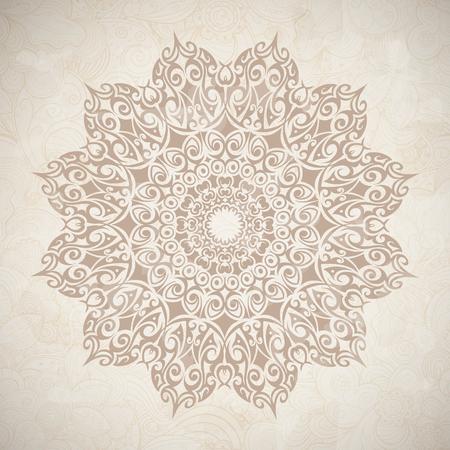 Lace circle. Celtic style