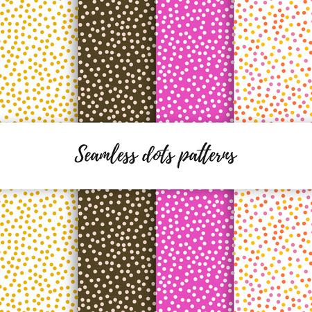 Set of vector dot patterns.