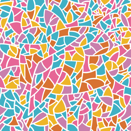 Vector seamless colorful mosaic pattern with bright colors.