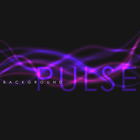Abstract vector shining wave background. Purple and pink neon line. Ilustrace