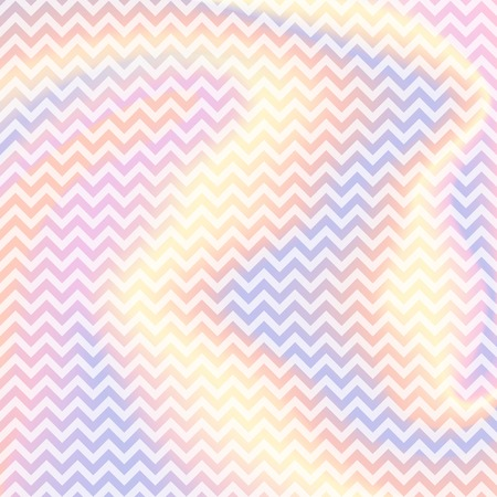 Abstract vector zigzag pattern on holographic gradient background.