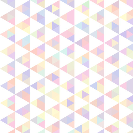 Vector bright colorful abstract background made of triangle elements. Pastel and white colors.