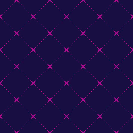 Geometric abstract purple seamless pattern. Classic vector background.