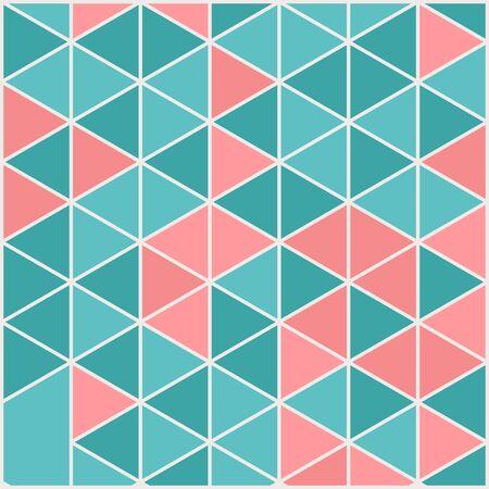 Vector template square cards made of triangles. Ilustración de vector