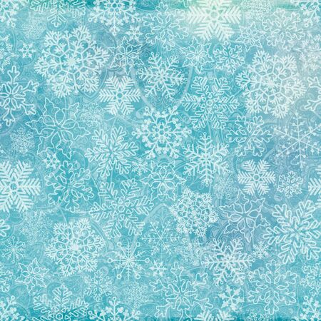 Vector seamless frosty snowflakes.