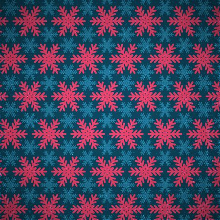 Bright Christmas pattern snowlakes.