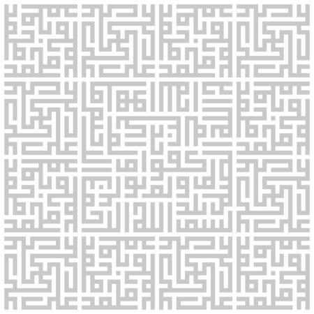 Arabic sacred calligraphy, geometric Kufi. Vector set of square lettering.  イラスト・ベクター素材