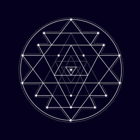 Sacred geometry design elements.