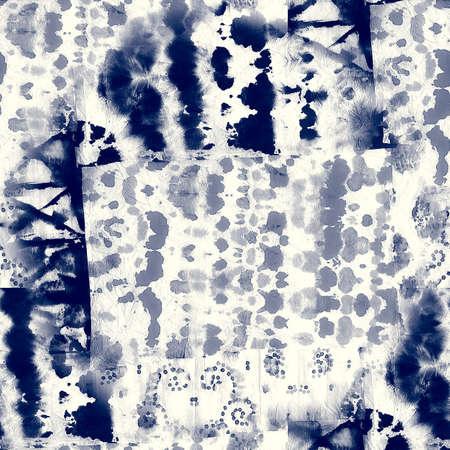 Alcohol ink indigo seamless background. Art for Banco de Imagens