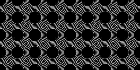 Retro pattern, made of glitter waves, lines and circles. Ilustração
