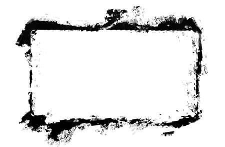 Modern abstract black grunge frame.
