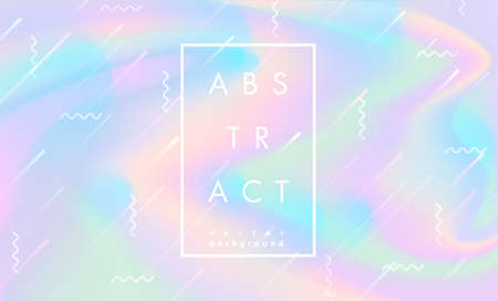 Abstract vector holographic gradient background for web, packaging,