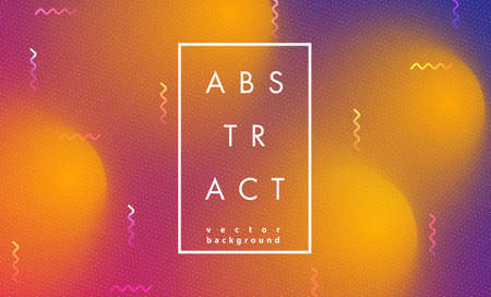Abstract modern pop art vector frame in trendy memphis 80s-90s style