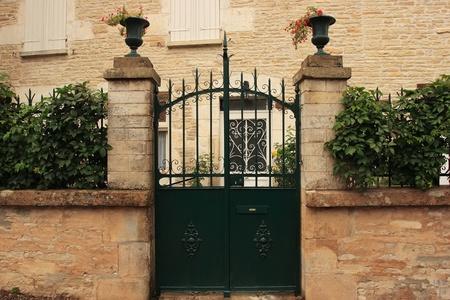 Entrance gate, Burgundy, France