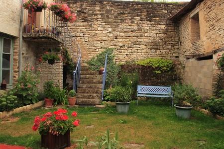 Nice village house, Cruzy-le-Chatel, Burgundy, France. Editorial